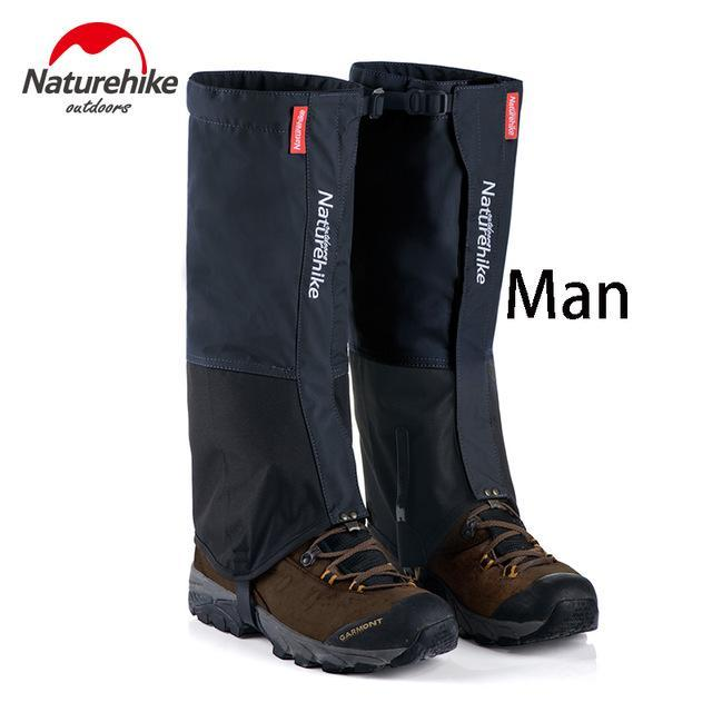 Naturehike 1Pair Leg Warmers Leg Gaiters Waterproof Climbing Hunting Trekking-Gaiters-Bargain Bait Box-Black-Bargain Bait Box