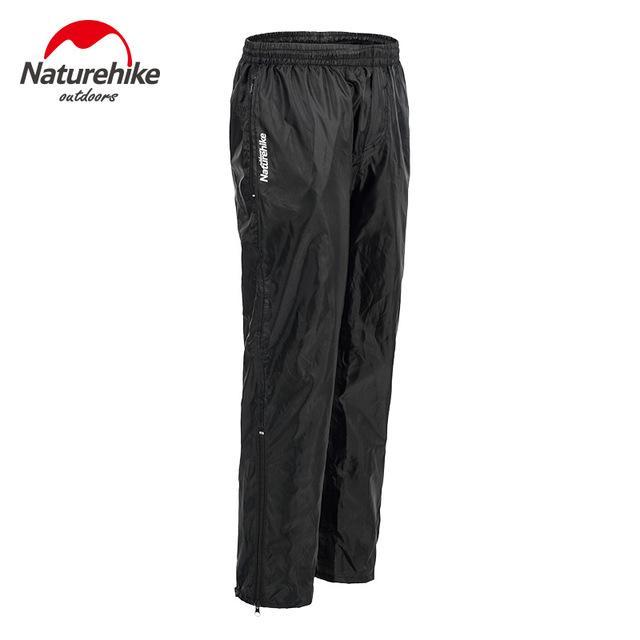 Naturehike Camping Double Zipper Rain Pants Nylon Waterproof Pants Fishing-Pants-Bargain Bait Box-Black-L-Bargain Bait Box