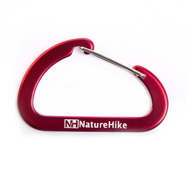 Naturehike Multicolo 6.5Cm D-Shaped Aluminum Alloy Climb Carabiner Hook Quick-Cords & Carabiners-Bargain Bait Box-Red-Bargain Bait Box