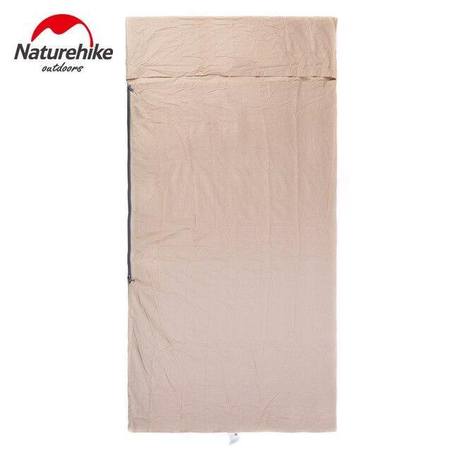 Naturehike Nh15S012 D Envelope Sleeping Bag Liner Cotton Ultralight Portable-Sleeping Bags-YOUGLE store-L Grey-Bargain Bait Box