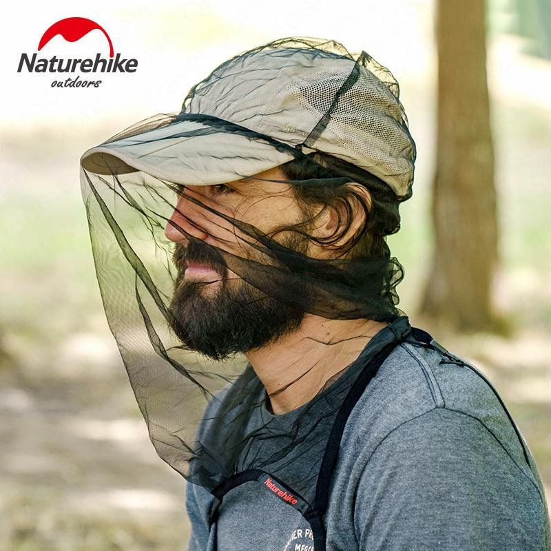 Naturehike Outdoor Mountaineering Hat Mosquito Bee Hat Fishing Sunscreen Gauze-Hiking Caps-Naturehike Factory Authorization Store-With Top-One Size-Bargain Bait Box