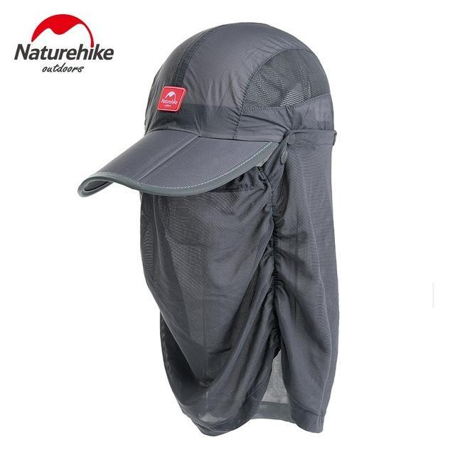 Naturehike Unti-Uv Sunscreen Fishing Caps Breathable Hat For Men Women Camping-Hats-Bargain Bait Box-Black-M-Bargain Bait Box