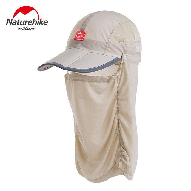 Naturehike Unti-Uv Sunscreen Fishing Caps Breathable Hat For Men Women Camping-Hats-Bargain Bait Box-White-M-Bargain Bait Box