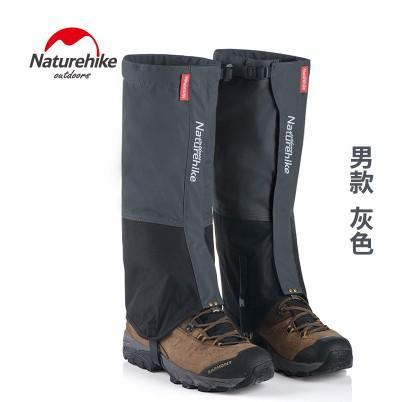 Naturehike Waterproof Snow Covers High Meadows Skiing Gaiters Boots Shoes Covers-Gaiters-Bargain Bait Box-gray Men-Bargain Bait Box