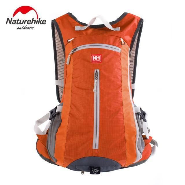 [Naturehike] Waterproof Ultralight Rucksack Bike Camping Climbing Backpack 15L 5-Backpacks-Bargain Bait Box-Orange-Other-Bargain Bait Box