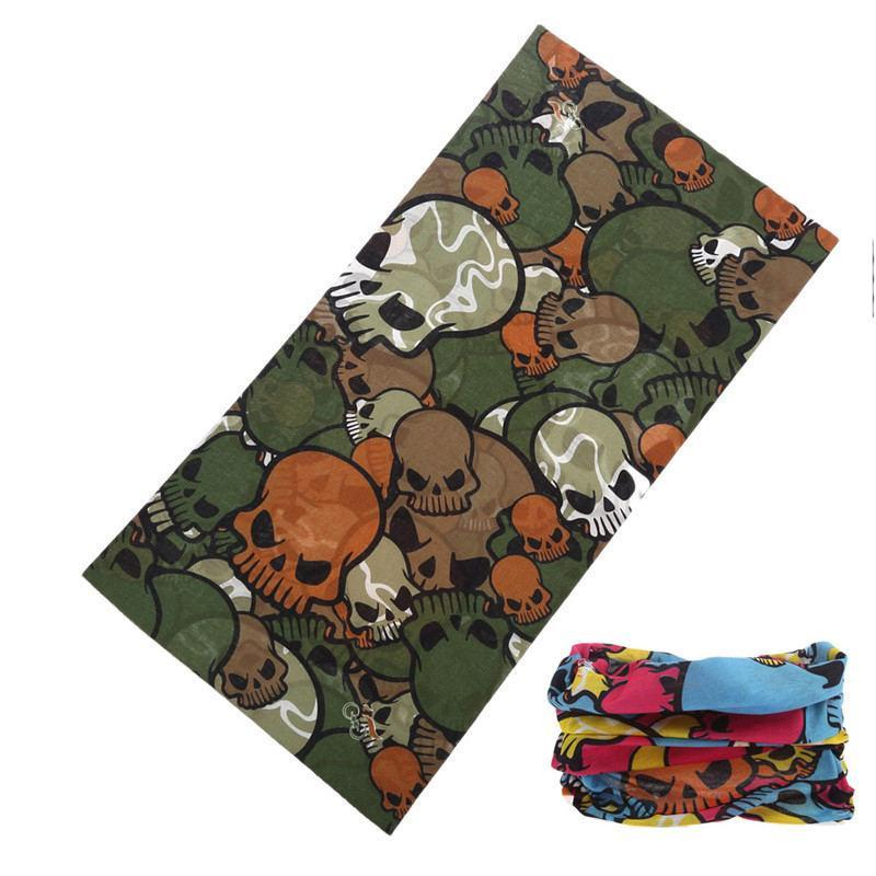 Neck Face Mask Skull Motorcycle Seamless Bandana Kerchief Tubular Headband Multi-Face Shields-Bargain Bait Box-Brown-Bargain Bait Box
