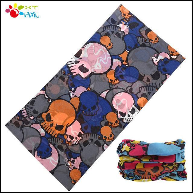 Neck Face Mask Skull Motorcycle Seamless Bandana Kerchief Tubular Headband Multi-Face Shields-Bargain Bait Box-Red-Bargain Bait Box