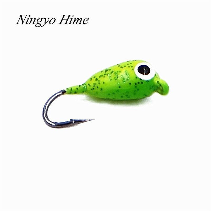 Ningyo Hime 6Pcs Banana Winter Ice Fishing Lure 1.8Cm 2.3G Mini Metal Lead-Ningyo Hime Official Store-Bargain Bait Box