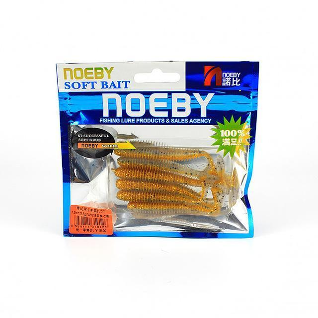Noeby 5 Pcs/Lot Soft Lure 87.5Mm/5G T-Tail Fishing Lures Soft Worm Swimbait-BassBros Fishing Tackle Store-NW208-Bargain Bait Box