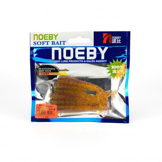 Noeby 5 Pcs/Lot Soft Lure 87.5Mm/5G T-Tail Fishing Lures Soft Worm Swimbait-BassBros Fishing Tackle Store-NW209-Bargain Bait Box
