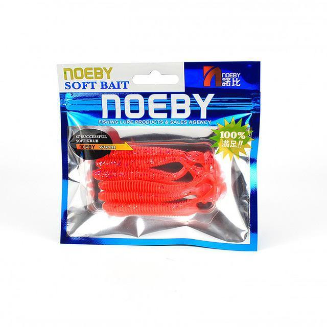 Noeby 5 Pcs/Lot Soft Lure 87.5Mm/5G T-Tail Fishing Lures Soft Worm Swimbait-BassBros Fishing Tackle Store-NW210-Bargain Bait Box