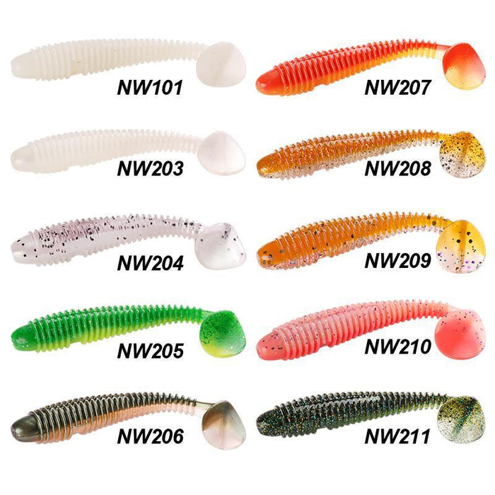 Noeby 9.5Cm/12Cm Soft Fishing Lures Isca Artificial Grub Single T-Tail Plastic-Hepburn's Garden Store-4Pcs 95mm NW101-Bargain Bait Box