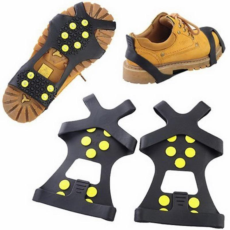 Non-Slip Snow Cleats Anti-Slip Overshoes Studded Ice Traction Shoe Covers-BestSellingMall Store-S-Bargain Bait Box