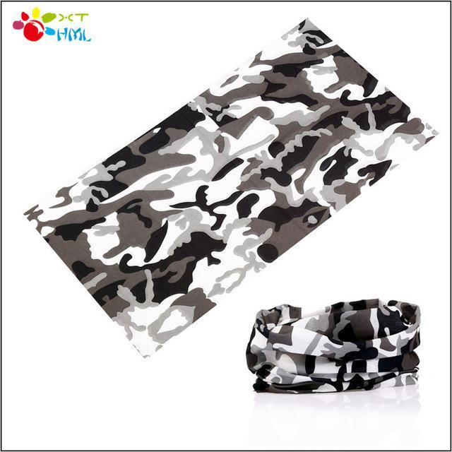 Novelty Bicycle Bandanas Seamless Camo Bandanas Headwear Ride Mask Scarf-Face Shields-Bargain Bait Box-Black-Bargain Bait Box