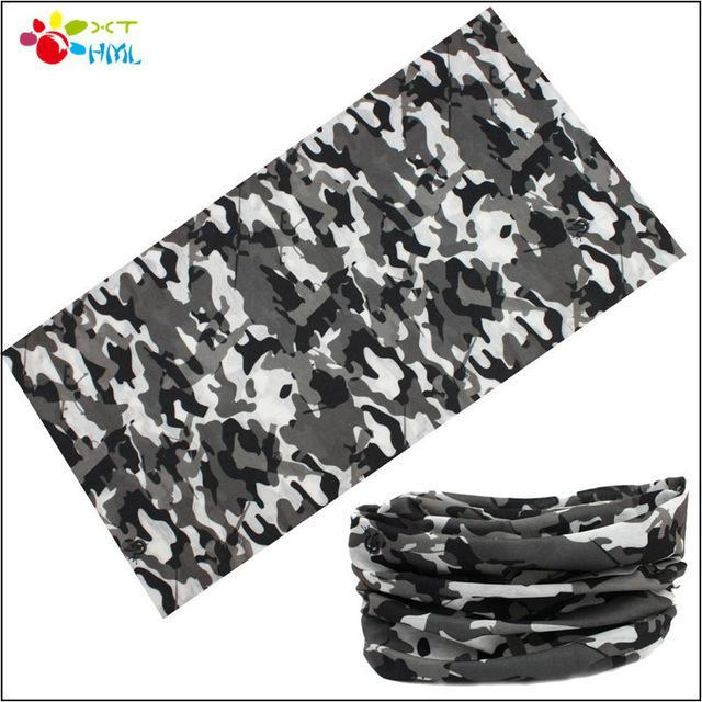 Novelty Bicycle Bandanas Seamless Camo Bandanas Headwear Ride Mask Scarf-Face Shields-Bargain Bait Box-Gray-Bargain Bait Box