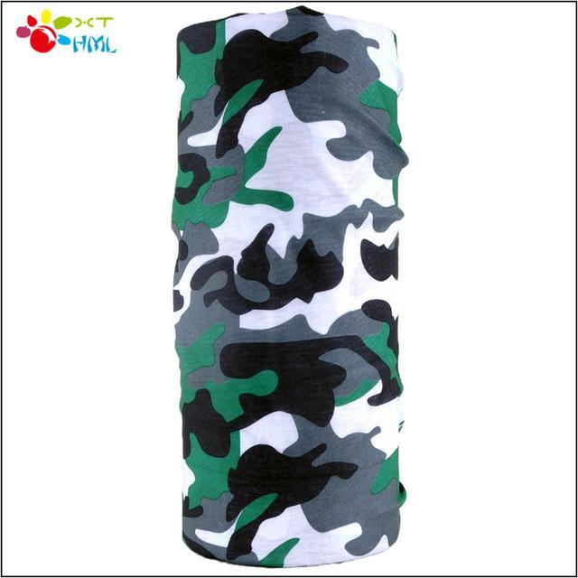 Novelty Bicycle Bandanas Seamless Camo Bandanas Headwear Ride Mask Scarf-Face Shields-Bargain Bait Box-Yellow-Bargain Bait Box
