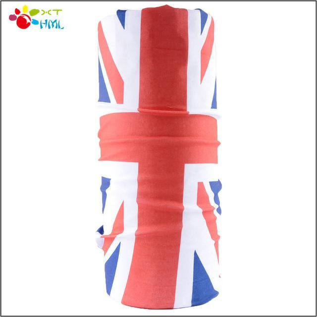 Novelty Flag Headband Magic Seamless Bandana Motorcycle Face Mask Neck Tube-Face Shields-Bargain Bait Box-Red-Bargain Bait Box