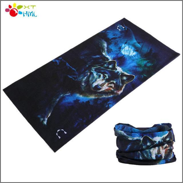Novetly Tiger Hiphop Cool Multi Function Seamless Bandana Motorcycle Face Mask-Face Shields-Bargain Bait Box-Blue-Bargain Bait Box