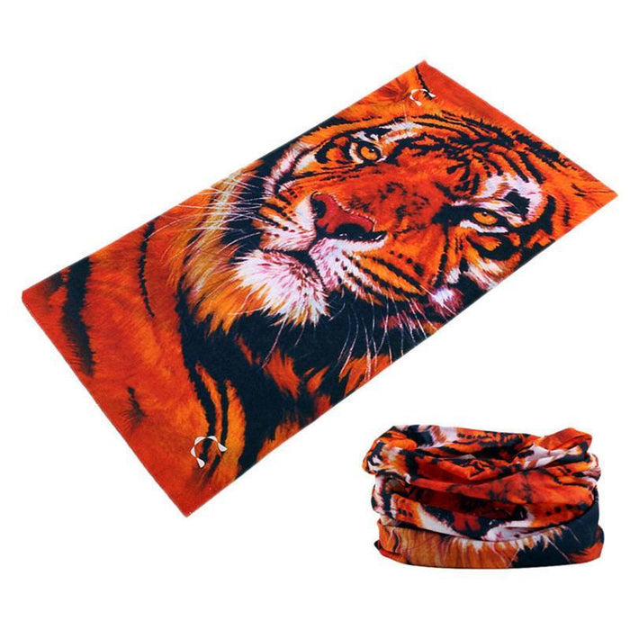Novetly Tiger Hiphop Cool Multi Function Seamless Bandana Motorcycle Face Mask-Face Shields-Bargain Bait Box-Brown-Bargain Bait Box