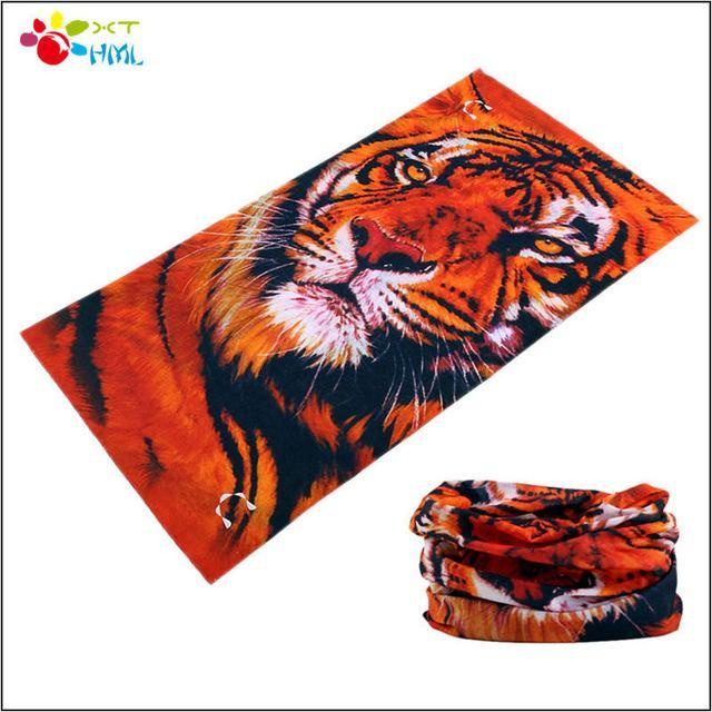 Novetly Tiger Hiphop Cool Multi Function Seamless Bandana Motorcycle Face Mask-Face Shields-Bargain Bait Box-Sky Blue-Bargain Bait Box