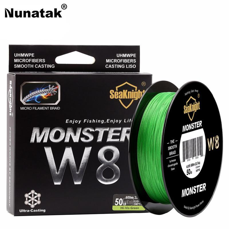 Nunatak Braided Fishing Line Fishing Line 500M 8 Strands 0.16-0.50Mm Super-Sequoia Outdoor (China) Co., Ltd-Yellow-1.0-Bargain Bait Box