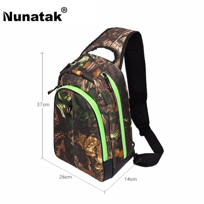Nunatak E5 Fishing Bag 37*26*14Cm Shoulder Bags Waterproof Lure Bag-Backpacks-Bargain Bait Box-Black-Bargain Bait Box