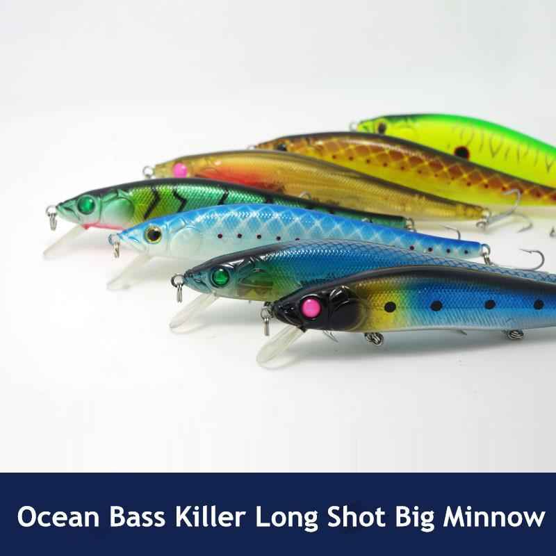 Ocean Bass Fishing Minnow Lure Bait 14Cm 23G Long Range Sinking Big Game-Musky & Pike Baits-Bargain Bait Box-Bargain Bait Box