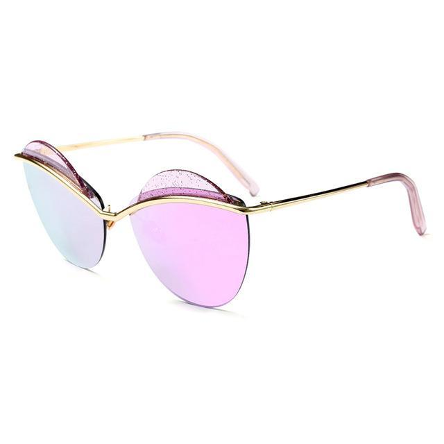 Ofir Fashion Sunglasses Women Rimless Round Style Eyebrow Sun Glasses-Sunglasses-RS Glasses Store-2-Bargain Bait Box