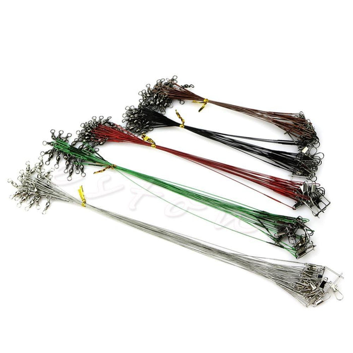 Ootdty Carp Fishing 100Pcs Lure Leader Wire Trace For Spinning Pike Fishing-Shop2986021 Store-Bargain Bait Box