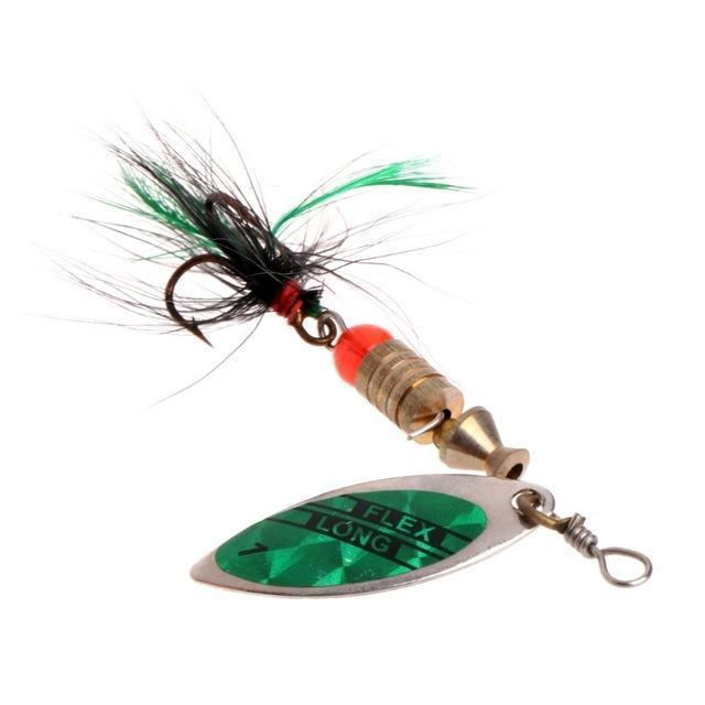 Ootdty Fishing Spoon Lure Sequins Paillette Metal Hard Bait Double Treble Hook-Autumn exquisite Instument Store-C-Bargain Bait Box