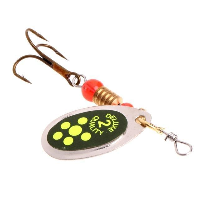 Ootdty Fishing Spoon Lure Sequins Paillette Metal Hard Bait Double Treble Hook-Autumn exquisite Instument Store-E-Bargain Bait Box