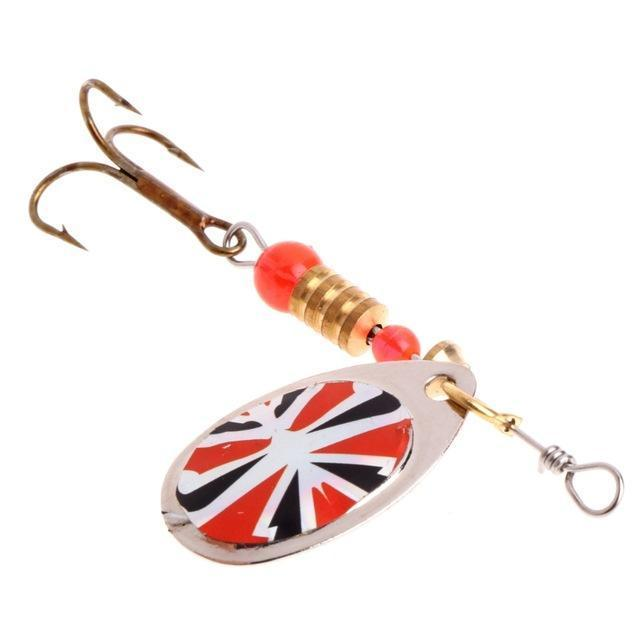Ootdty Fishing Spoon Lure Sequins Paillette Metal Hard Bait Double Treble Hook-Autumn exquisite Instument Store-I-Bargain Bait Box