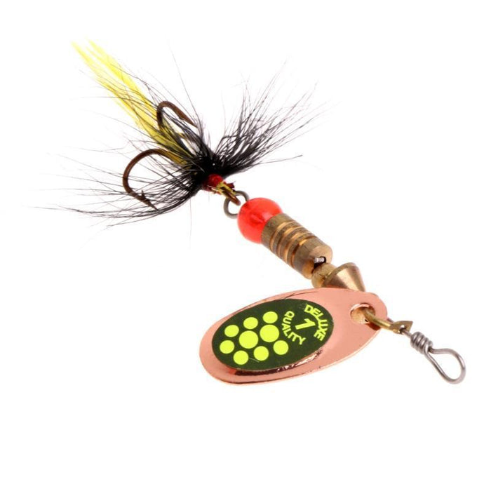 Ootdty Fishing Spoon Lure Sequins Paillette Metal Hard Bait Double Treble Hook-Autumn exquisite Instument Store-J-Bargain Bait Box