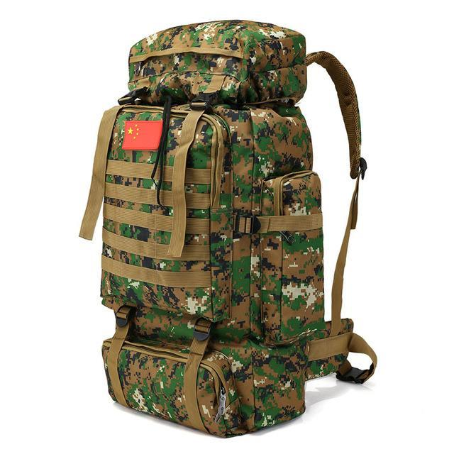 Outdoor 70L Large Capacity Mountaineering Backpack Camping Hiking Military Molle-YT Dropship Store-2C-Bargain Bait Box
