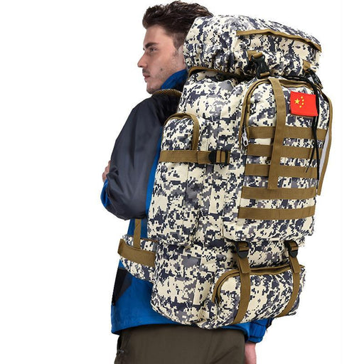 Outdoor 70L Large Capacity Mountaineering Backpack Camping Hiking Military Molle-YT Dropship Store-Khaki-Bargain Bait Box