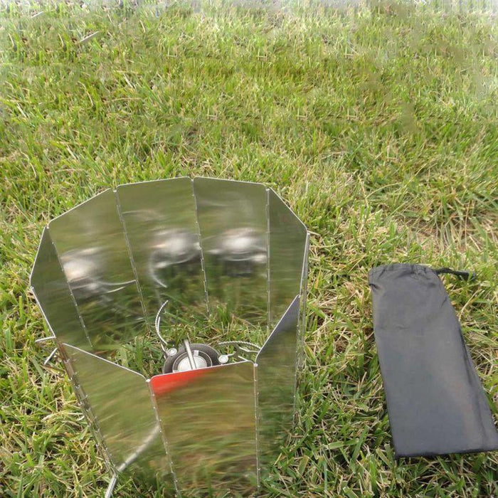 Outdoor 9 Plates Wind Deflectors Foldable Camping Picnic Cooking Cooker Gas-Ziyaco Online Store-Bargain Bait Box