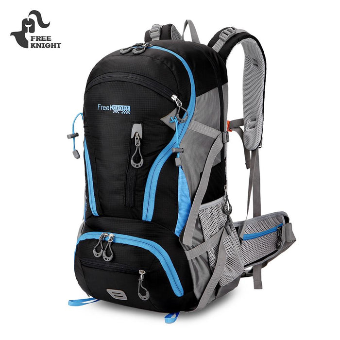 Outdoor Backpack 45L Waterproof Climbing Camping Hiking Backpack For Travel-Climbing Bags-World Peace-blue-Bargain Bait Box