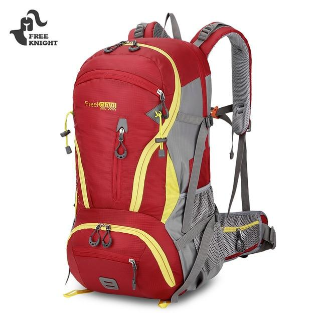 Outdoor Backpack 45L Waterproof Climbing Camping Hiking Backpack For Travel-Climbing Bags-World Peace-red-Bargain Bait Box