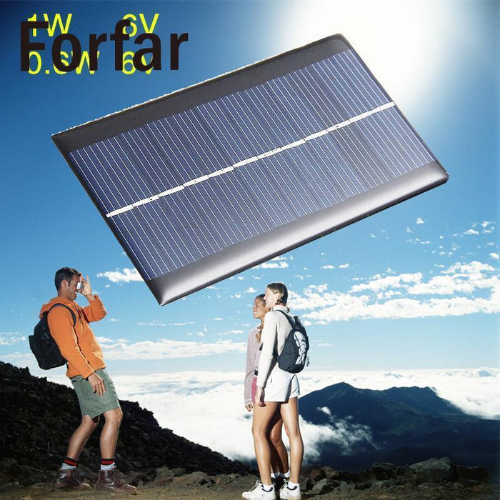 Outdoor Camping 6V 0 6W Solar Power Panel Poly Module Diy Small Cell  Charger For