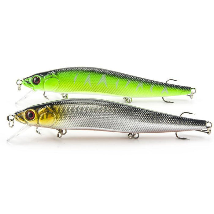 Outdoor Fishing 2Pcs/Lot Plastic Fishing Lures 14Cm/23G Fishing Bait Minnow Bass-Crankbaits-SEALURER Official Store-2Green-Bargain Bait Box