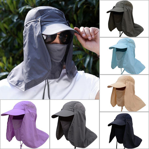 ee77697f11e Outdoor Sport Hiking Camping Visor Hat Uv Protection Face Neck Cover Fishing  Sun-Yunhua Shen s