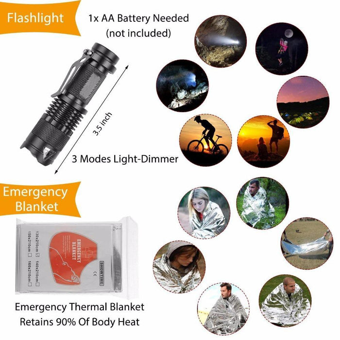 Outdoor Survival Kit Set Camping Travel Multifunction First Aid Sos Edc-Survival Kits-OutdoorOK Store-12 in 1 survival-Bargain Bait Box