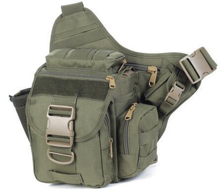 Outdoor Tactical Messenger Bag, Waterproof Cotton Canvas Material, Tactical-No problem - outdoor equipment Store-Green Color-Bargain Bait Box