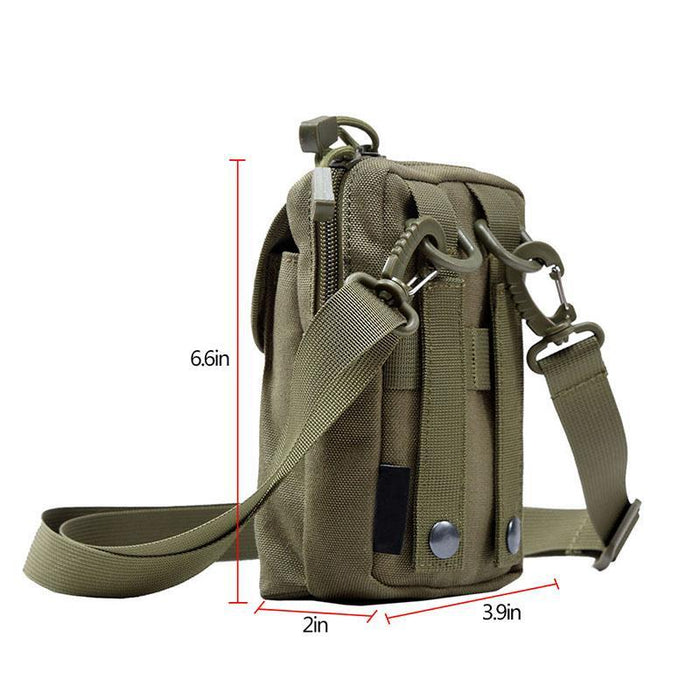 Outdoor Tactical Molle Pouch Edc Utility Sports Waist Bag With Cell Phone-1847 Blues Store-Black Color-Bargain Bait Box