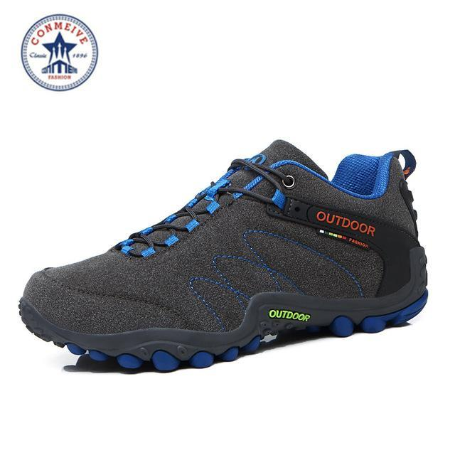Outdoor Trekking Hiking Shoes Sapatilhas Climbing Leather Camping Senderismo-GUIZHE Store-Gray man-5-Bargain Bait Box