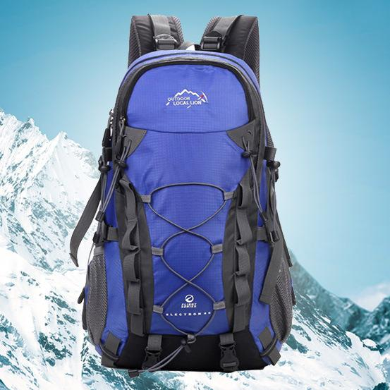 Outdoor Waterproof Hiking Backpack 40L,Ventilated Women Men Camping Travel Bag-Climbing Bags-STOUREG Store-Blue-30 - 40L-Bargain Bait Box