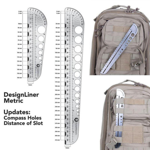 Outdoors Multifunction Scale Tool Edc Ruler Camping Protractor Stainless Steel-Beautiful Building Store-Bargain Bait Box