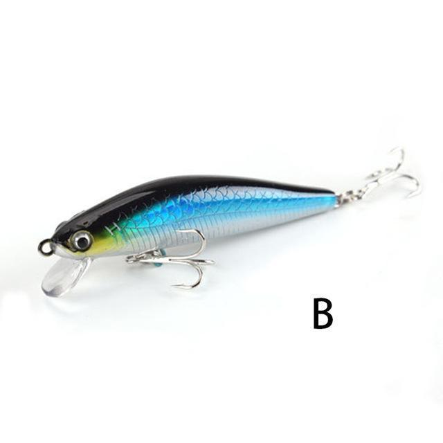 Outkit 1Pcs 7.5Cm 6G Fishing Lure Minnow Hard Bait With 2 Fishing Hooks-OUTKIT VikingFishing Store-B-Bargain Bait Box