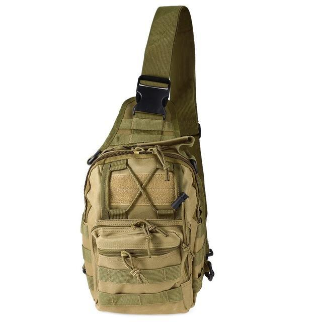 Outlife 9 Color 600D Military Tactical Backpack Shoulder Camping Camo Bag-Backpacks-Bargain Bait Box-Kahki-China-Bargain Bait Box