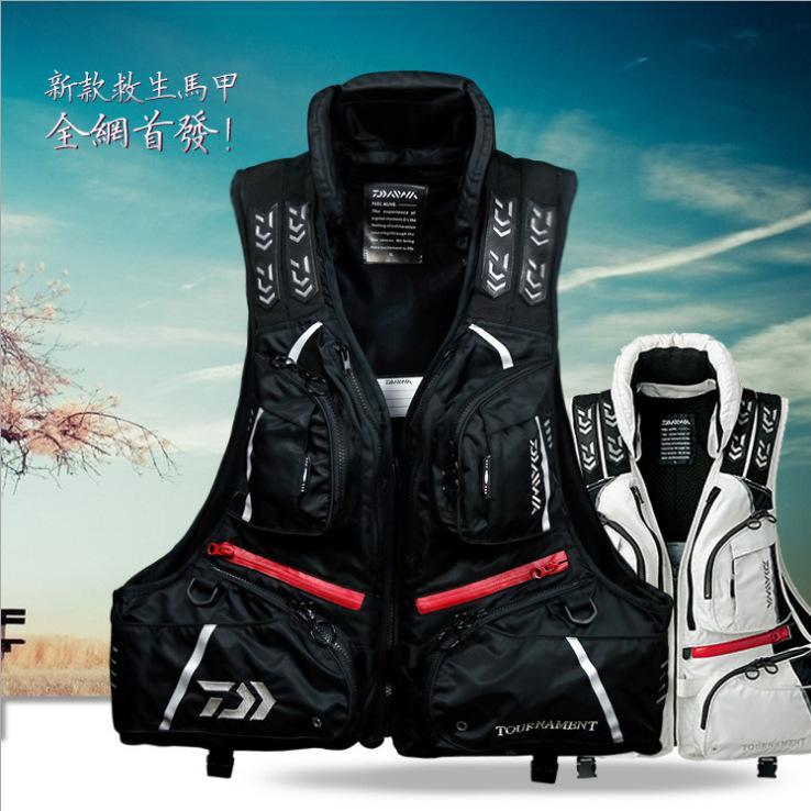 Oversized Buoyancy Windproof Fly Fishing Vest Life Detachable Breathable-Fishing Vests-Bargain Bait Box-Black-XL-Bargain Bait Box